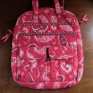 Vera Bradley Mesa Red Tote Bag with Pockets